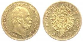 Preussen - J 244 - 1877 B - Kaiser Wilhelm I. (1861 - 1888) - 5 Mark - ss-vz