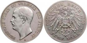 Waldeck-Pyrmont - J 171 - 1903 A - Friedrich (1893 - 1918) - 5 Mark - vz