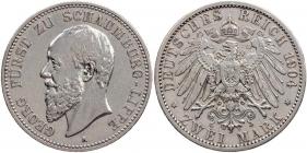 Schaumburg-Lippe - J 165 - 1898 A - Georg (1893 - 1911) - 5 Mark - ss-vz-ber. min. Kr.