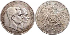 Braunschweig-Lüneburg - J 58 - 1915 A - Ernst August (1913 - 1918) - mit Ehefrau Luise von Preußen - 5 Mark - vz-Kr.