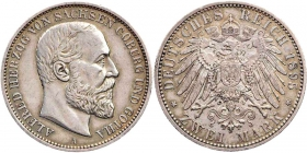 Sachsen-Coburg-Gotha - J 145 - 1895 A - Alfred (1893 - 1900) - 2 Mark - ss-vz min. RF