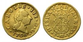Spanien - 1760 JP - Karl III. (1759 - 1788) - 1/2 Escudo - ss-Kr.