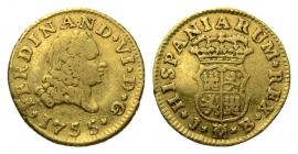 Spanien - 1755 JB - Ferdinand VI. (1746 - 1759) - 1/2 Escudo - ss