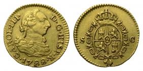 Spanien - 1788 SC - Karl III. (1759 - 1788) - 1/2 Escudo - vz