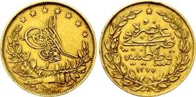 Türkei - 1277 - 1860 AD - Abdul Aziz (1861 - 1876) - 100 Kurush - vz