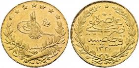 Türkei - 1327 AH - 1908 - Mehmed V. Resat (1909 - 1918) - 100 Kurush - vz