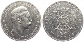 Preussen - J 104 - 1903 A - Wilhelm II. (1888 - 1918) - 5 Mark - ss