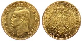 Hessen - J 224 - 1896 A - Ernst Ludwig (1892 - 1918) - 10 Mark f.vz