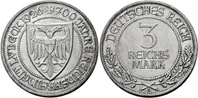 Weimarer Republik - J 323 - 1926 A - Lübeck - 3 Reichsmark - vz+