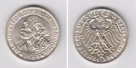 Weimarer Republik - J 332 - 1928 D - Albrecht Dürer - 3 Reichsmark - st