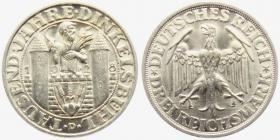 Weimarer Republik - J 334 - 1928 D - Dinkelsbühl - 3 Reichsmark - st