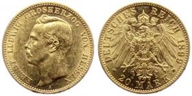 Hessen - J 225 - 1899 A - Ernst Ludwig (1892 - 1918) - 20 Mark vz min. RF