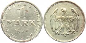 Weimarer Republik - J 311 - 1924 G - 1 Mark - f.st