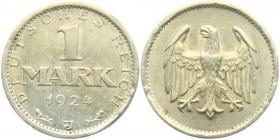 Weimarer Republik - J 311 - 1924 J - 1 Mark - vz