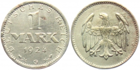 Weimarer Republik - J 311 - 1924 J - 1 Mark - f.st