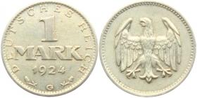 Weimarer Republik - J 311 - 1924 G - 1 Mark - vz+