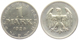 Weimarer Republik - J 311 - 1924 J - 1 Mark - ss