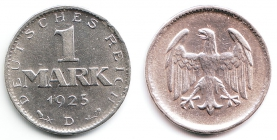 Weimarer Republik - J 311 - 1925 D - 1 Mark - f.st