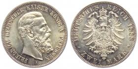 Preussen - J 98 - 1888 A - Friedrich III. (1888) - 2 Mark - f.st min. RF