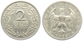 Weimarer Republik - J 320 - 1926 A - 2 Reichsmark - ss+