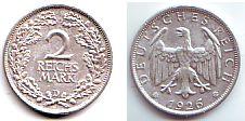 Weimarer Republik - J 320 - 1926 D - 2 Reichsmark - gutes vz