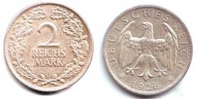 Weimarer Republik - J 320 - 1926 G - 2 Reichsmark - vz