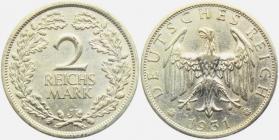 Weimarer Republik - J 320 - 1931 J - 2 Reichsmark - vz+