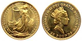 Großbritannien - 1987 - stehende Britannia - 1/4 Unze - 25 Pounds - st