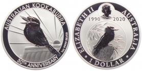 Australien - 2020 - Kookaburra - 1 Unze - 1 Dollar - st / BU in Kapsel