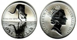 Australien - 1997 - Känguru - 1 Unze - 1 Dollar - st /BU in Kapsel