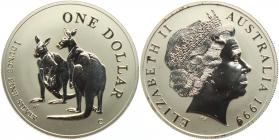 Australien - 1999 - Känguru - 1 Unze - 1 Dollar - st /BU in Kapsel