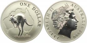 Australien - 2000 - Känguru - 1 Unze - 1 Dollar - st /BU in Kapsel