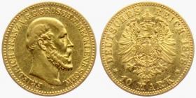 Mecklenburg-Schwerin - J 231 - 1878 A - Friedrich Franz II. (1842 - 1883) - 10 Mark ss+