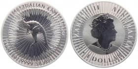 Australien - 2020 - Känguru - 1 Unze - 1 Dollar - st /BU in Kapsel