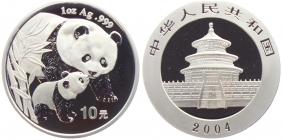China - 2004 - Panda - 10 Yuan - st - in Kapsel originalverschweißt