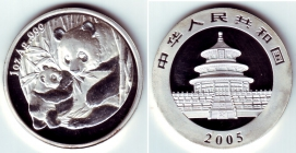 China - 2005 - Panda - 10 Yuan - st/BU - in Kapsel