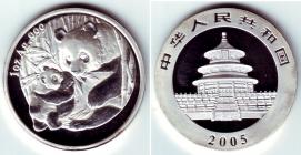 China - 2005 - Panda - 10 Yuan - st/BU - in Kapsel originalverschweißt