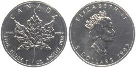 Kanada - 1999 - Maple Leaf - 1 Unze - 5 Dollars - unc