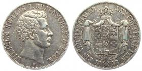 Braunschweig -  Lüneburg - 1858 B - Wilhelm (1831 - 1884) - Vereinstaler - ss+
