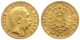 Sachsen - J 261 - 1875 E - Albert (1873 - 1902) - 10 Mark - ss+