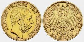 Sachsen - J 263 - 1893 E - Albert (1873 - 1902) - 10 Mark - vz min. RF