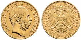 Sachsen - J 263 - 1896 E - Albert (1873 - 1902) - 10 Mark - vz