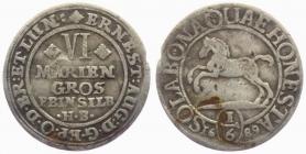 Braunschweig-Calenberg-Hannover - 1689 HB - Ernst August (16 - 1) - 1/6 Taler - ss