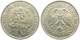 Weimarer Republik - J 331 - 1932 E - Eichbaum - 5 Reichsmark - vz