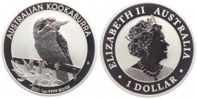 Australien - 2021 - Kookaburra - 1 Unze - 1 Dollar - st / BU in Kapsel