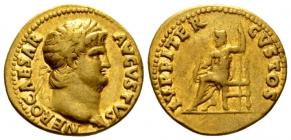 Römische Kaiserzeit - Nero (54 - 68) - Aureus - f.vz