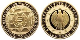 Deutschland - 2002 J - Währungsunion - 100 Euro - 1/2 Unze - st