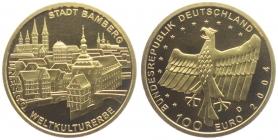 Deutschland - 2004 F - UNESCO-Weltkulturerbe - Bamberg - 100 Euro - 1/2 Unze - st