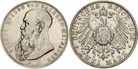 Sachsen-Meiningen - J 151b - 1902 D - Georg II. (1866 - 1914) - 2 Mark - f.vz