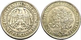 Weimarer Republik - J 331 - 1932 A - Eichbaum - 5 Reichsmark - vz